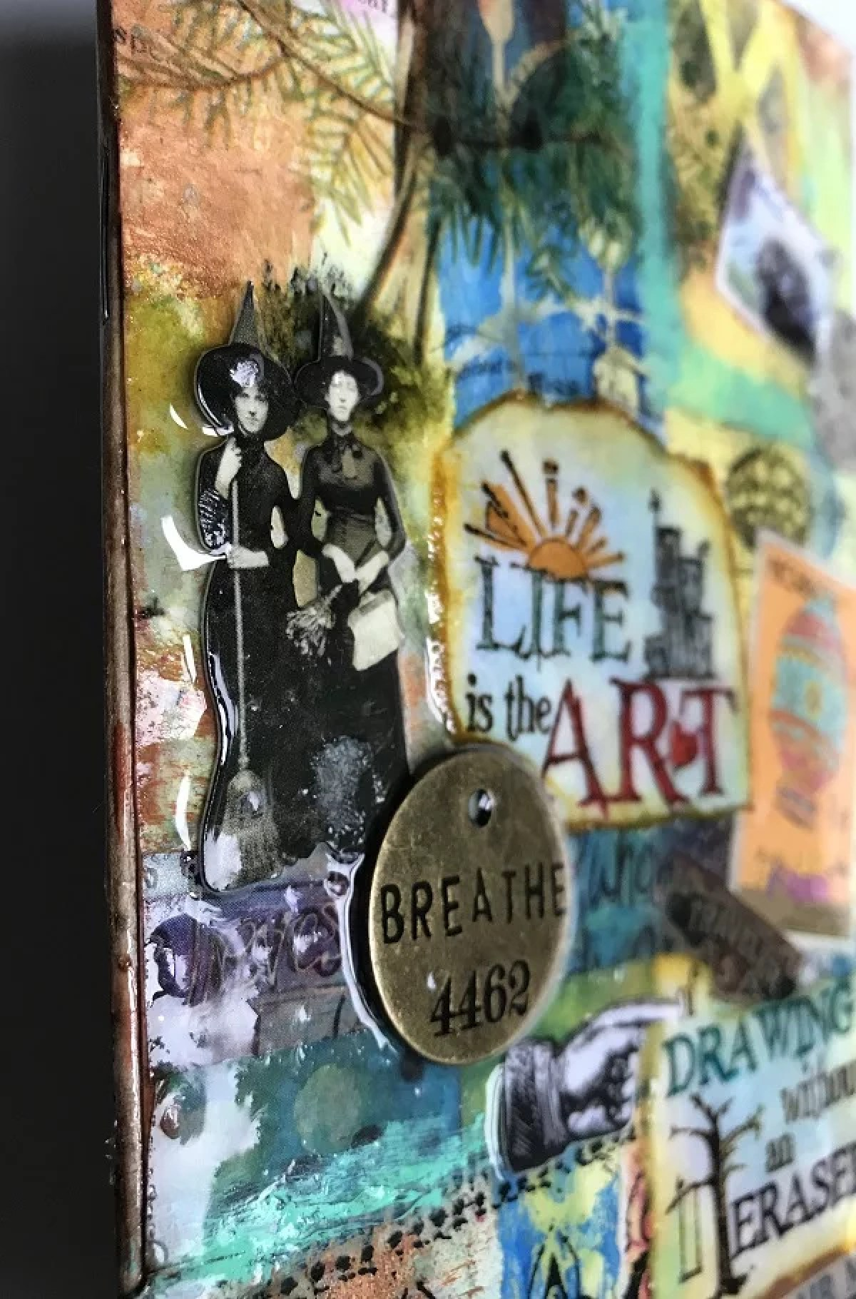 resin art journal cover