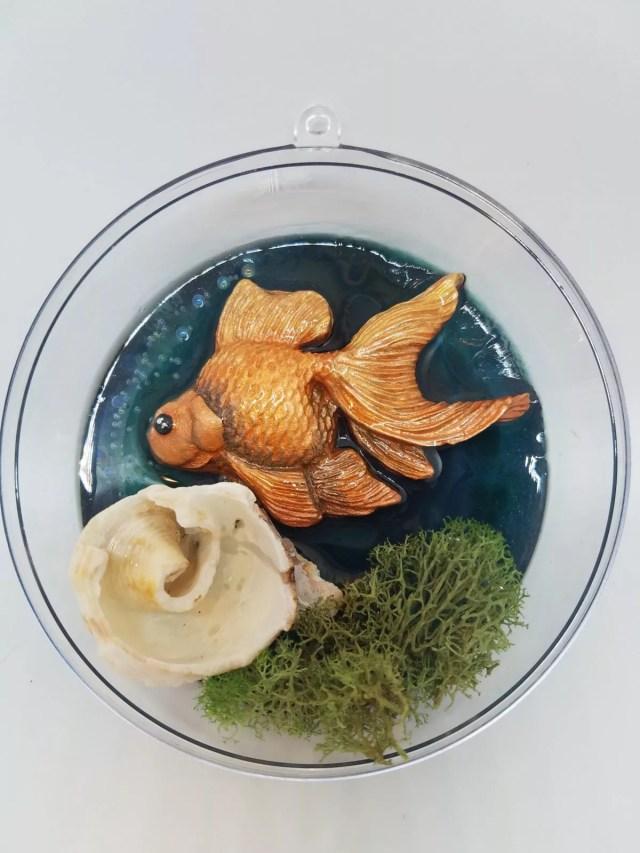 resin diorama ornament