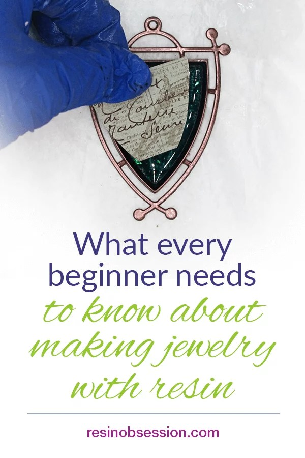what beginners need to know about resin jewelry making