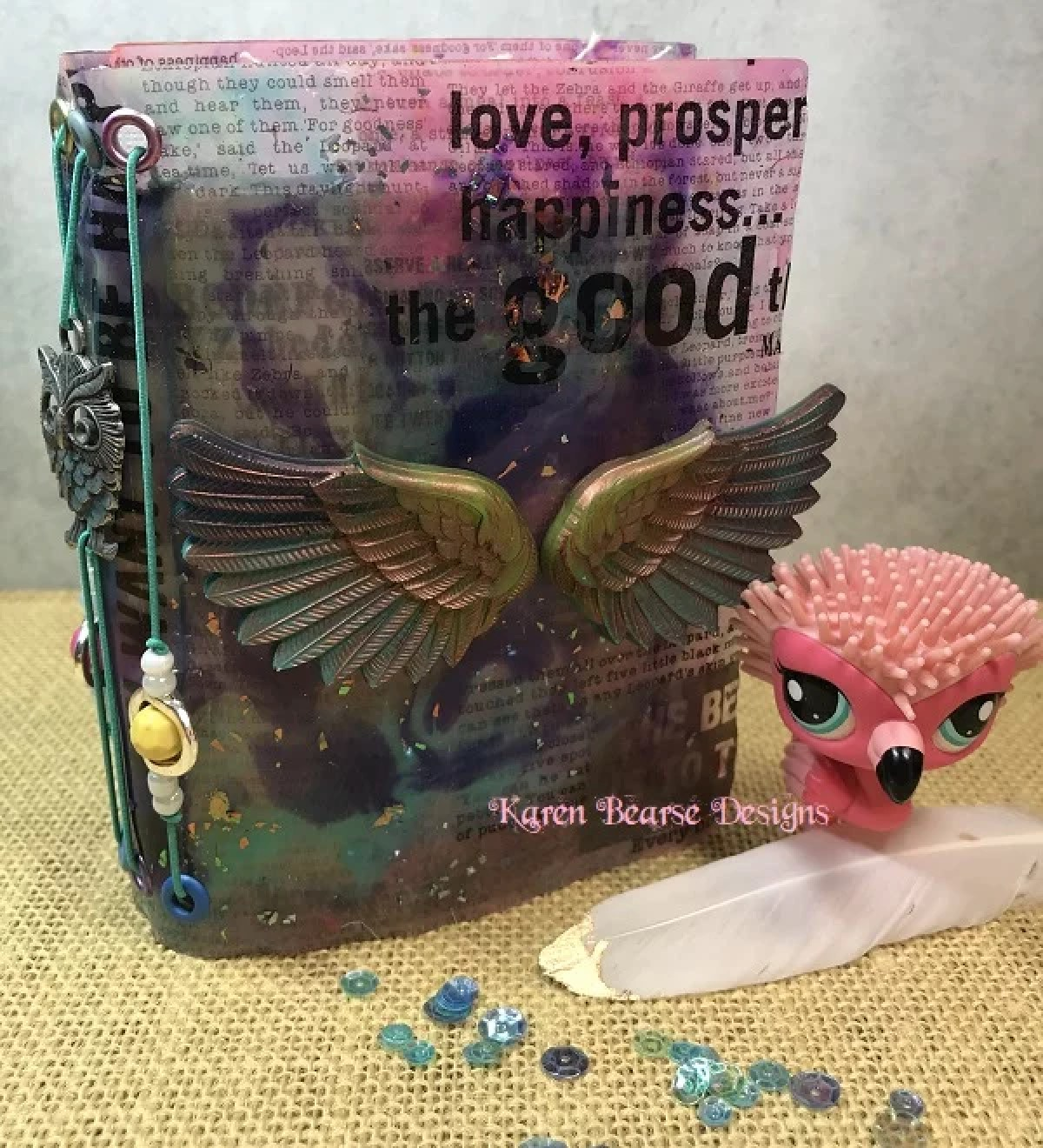 resin journal cover