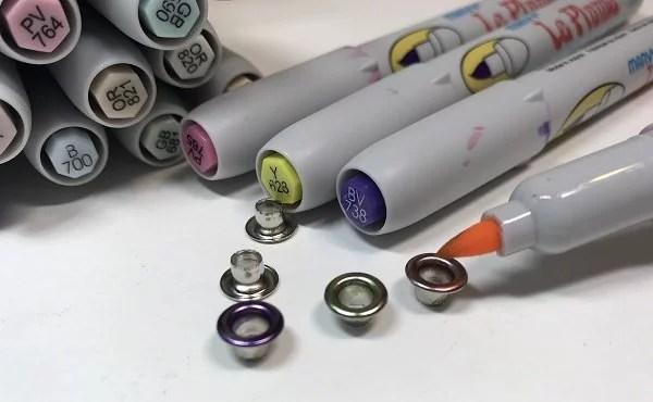 coloring eyelets