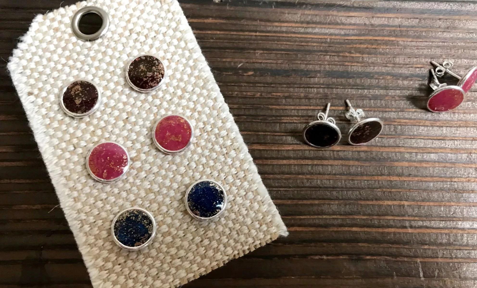 resin stud earrings DIY