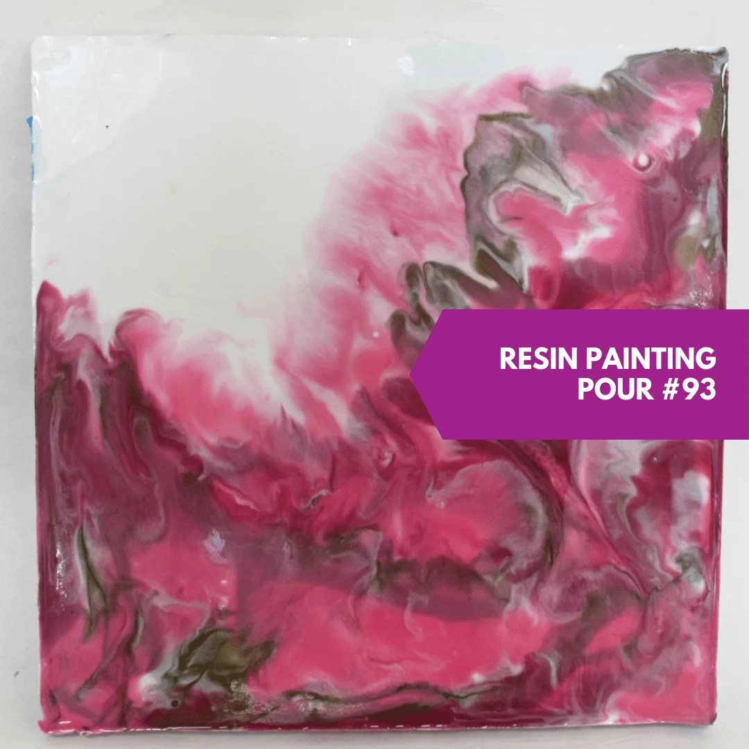 resin painting direct pour study