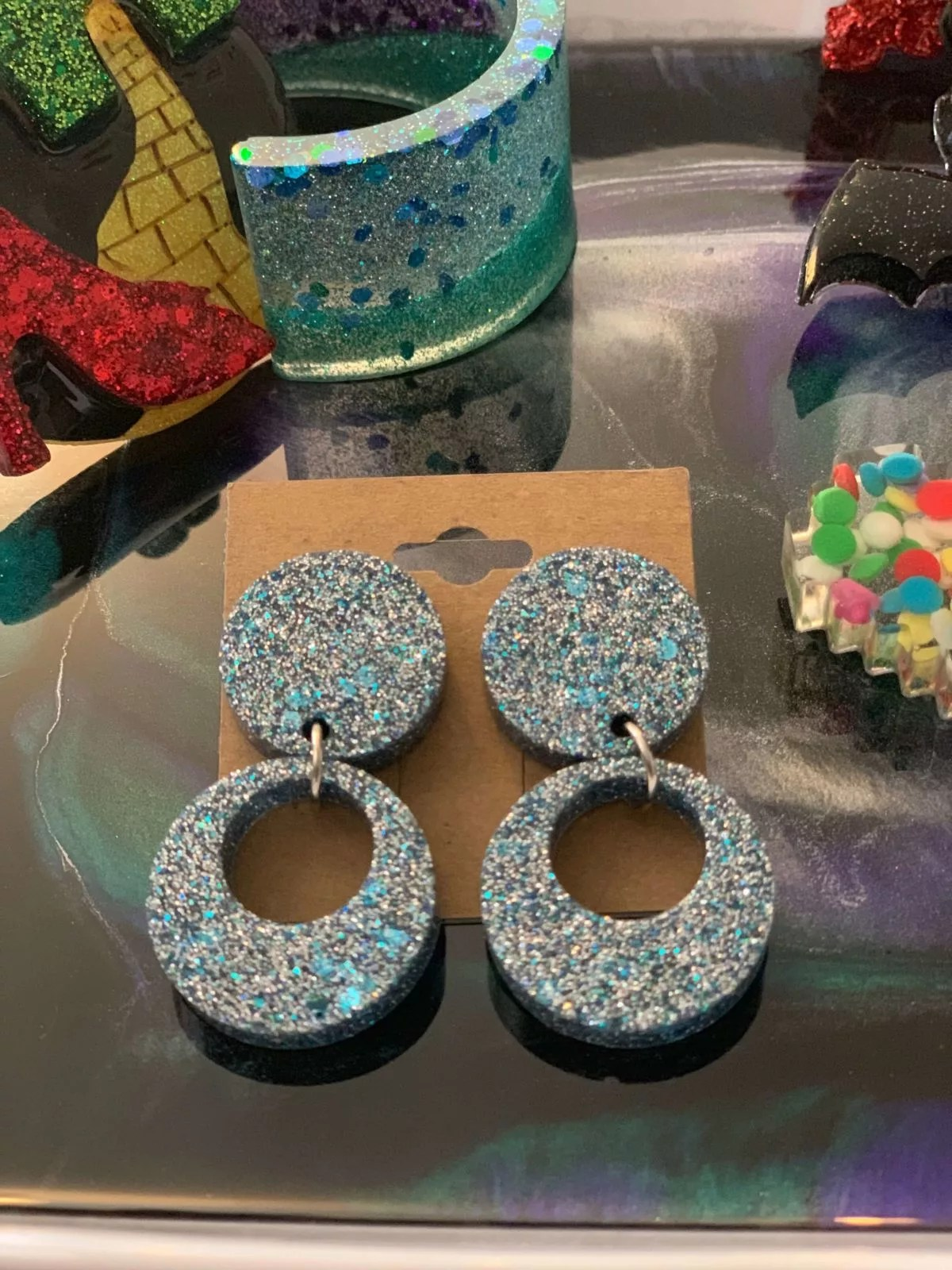 Kristiane Spires resin jewelry