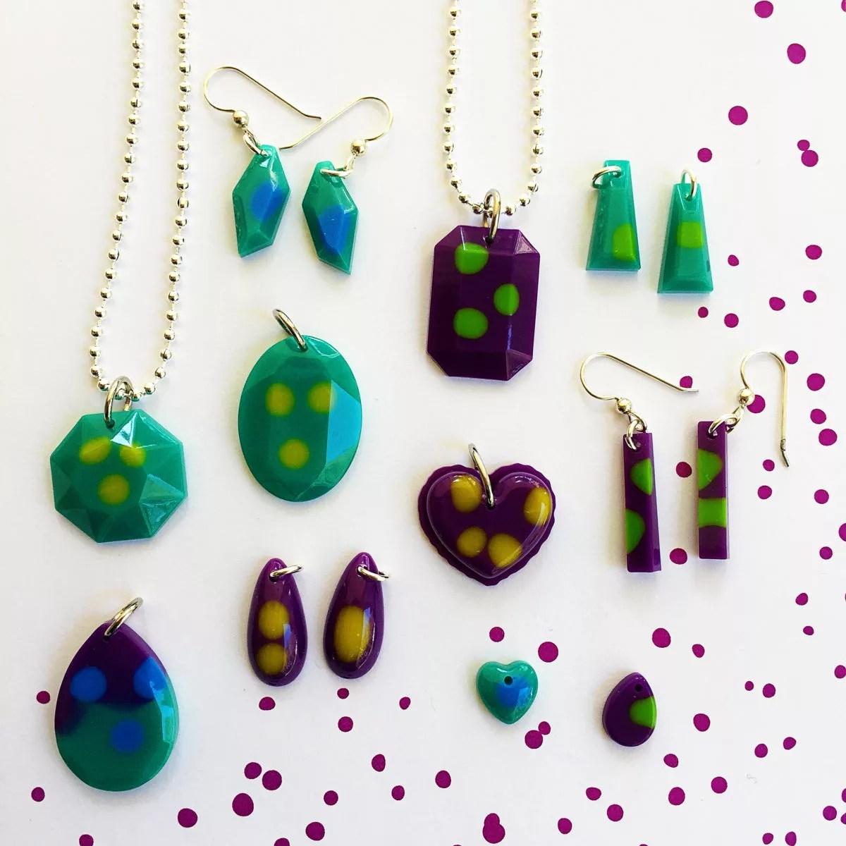 two tone resin jewelry