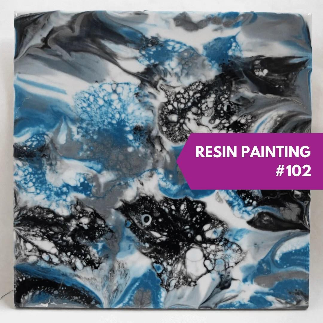 resin painting direct pour technique