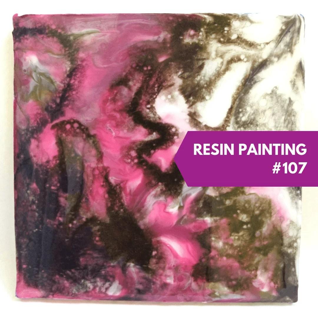 resin painting pearl ex powders