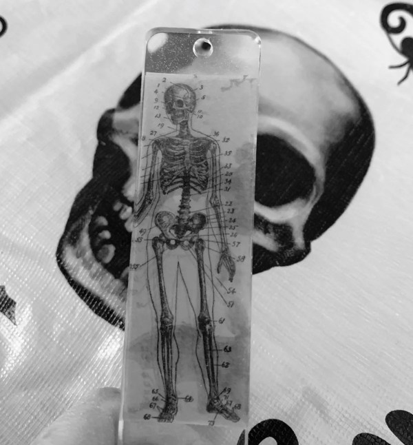 Halloween resin bookmark