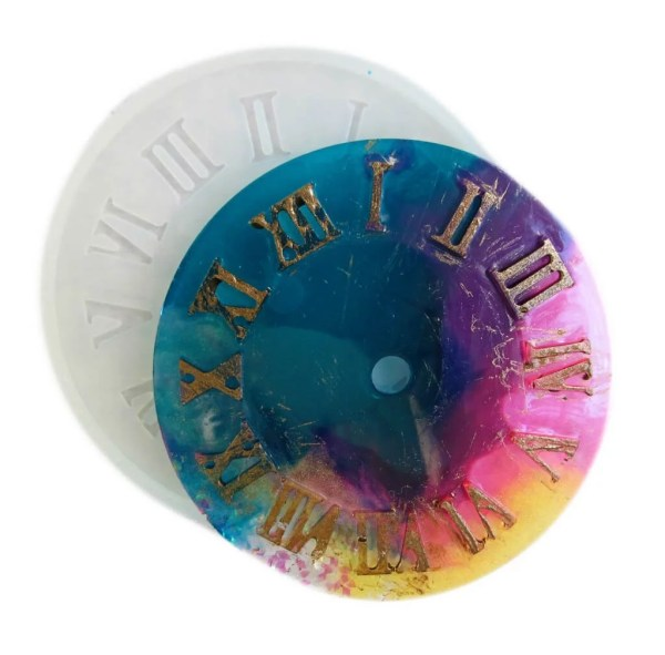 clear silicone clock face resin mold