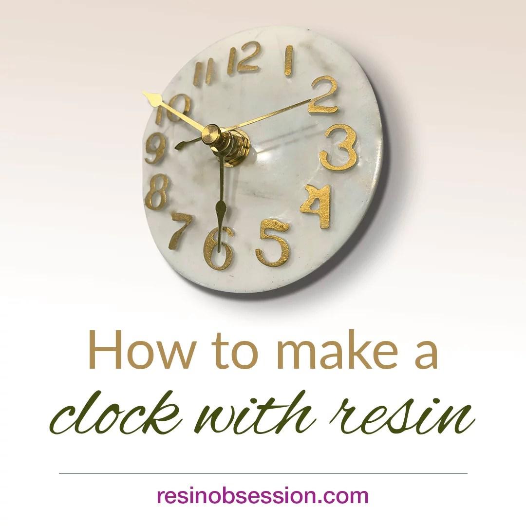 epoxy resin clock