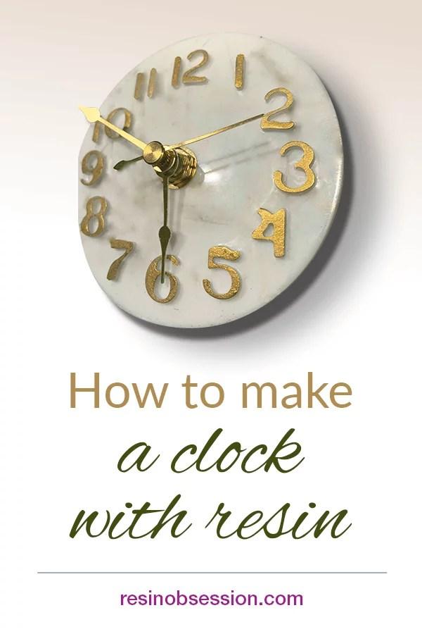 resin clock DIY