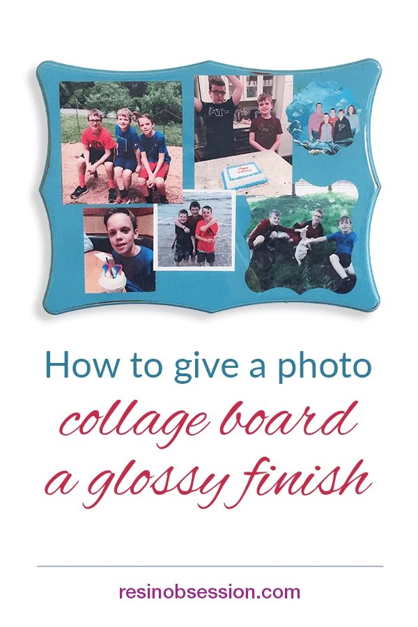 mother's day photo collage board diy project