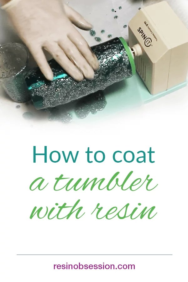 how to epoxy resin a tumbler