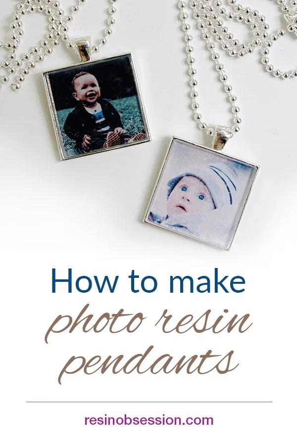how to make photo resin pendants