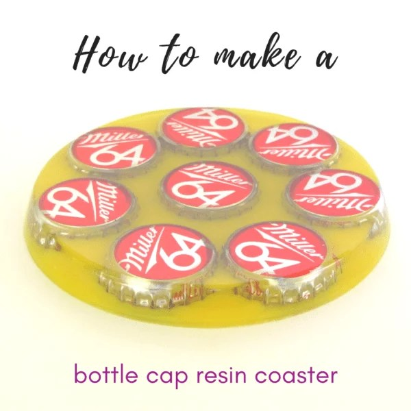bottle cap resin coaster