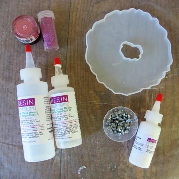 geode coaster resin supplies