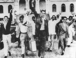Rebeldes libertados em maio de 1955