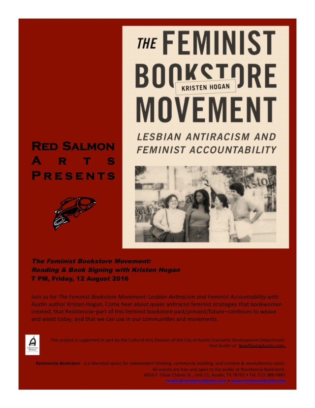 Flyer Feminist Bookstore Movement