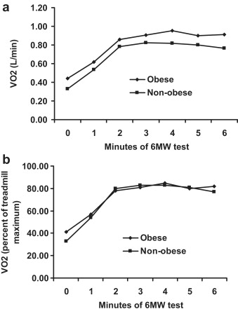 Physiologic responses during the six minute walk test in