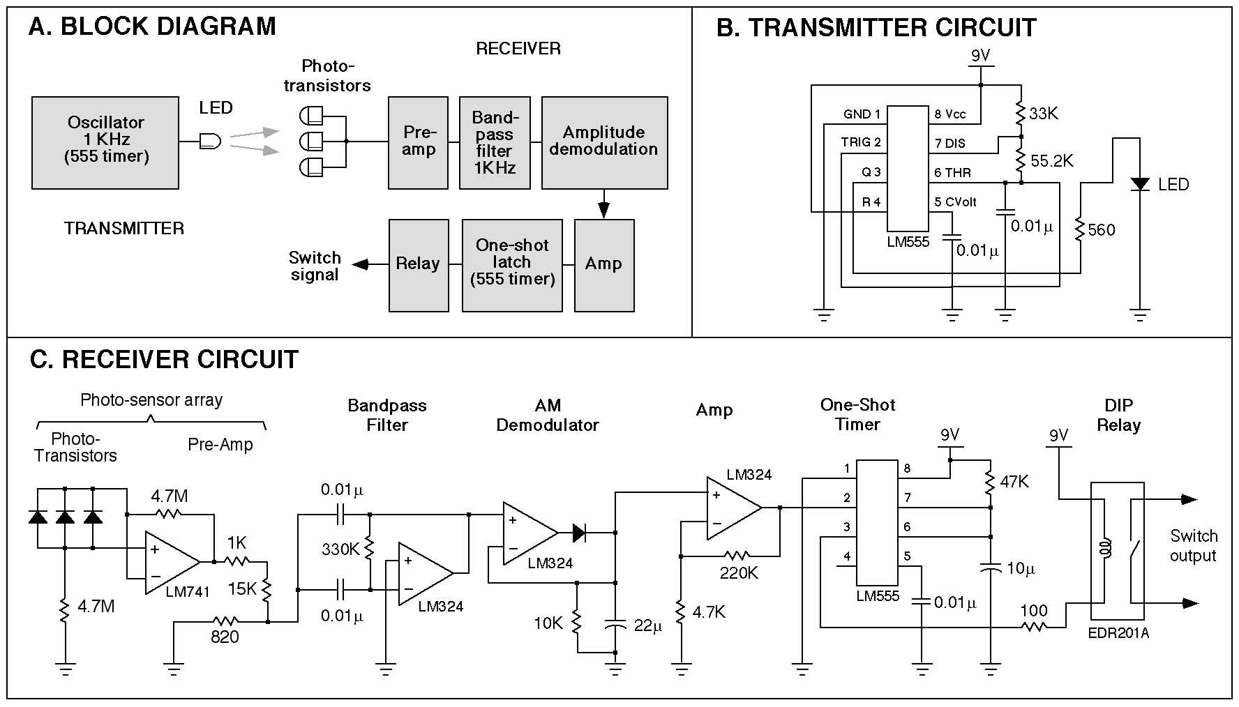hight resolution of this figure shows block diagram of the light activated switch a circuit