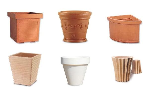 materiali vasi piante