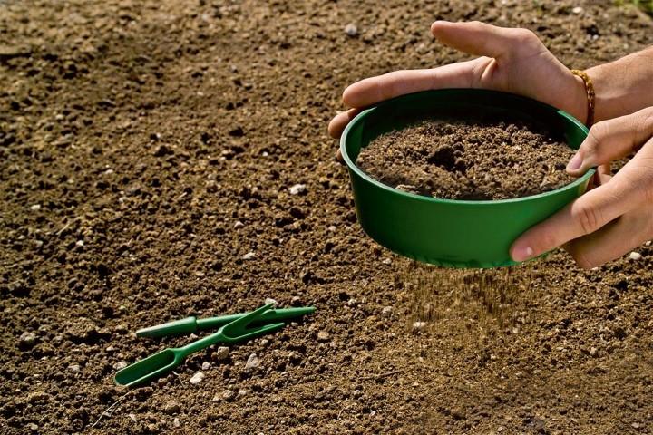 setaccio terra per orto