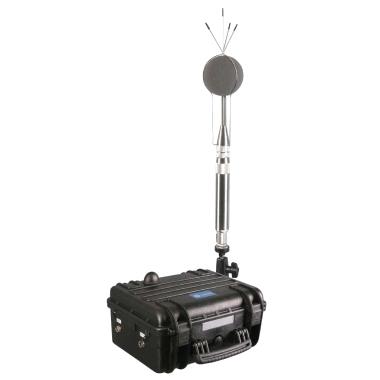 Photo d'une station de monitoring acoustique - valise étanche avec micro
