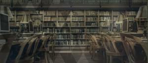 Photo d'une salle de lecture dans une bibliothèque