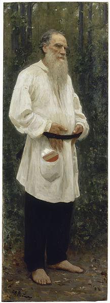 León Tolstói descalzo. 1901 Repin - Prólogo a León Tolstoi por Arturo Uslar-Pietri