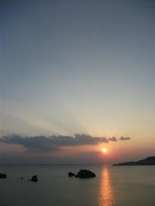 2012年 10月の夕日 ①