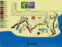 Resort Map Holiday Inn Los Cabos Mexico