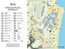 Resort Map Riu Palace Peninsula Cancun Mexico