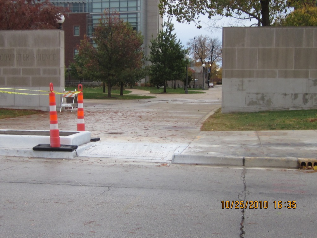 New curb cuts for cutting through campus at U of Illinois