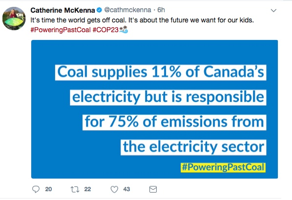 Canada says coal not coming back, US and Germany differ