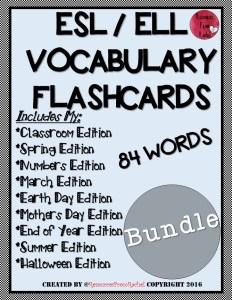 ESL/ELL Flashcard BUNDLE