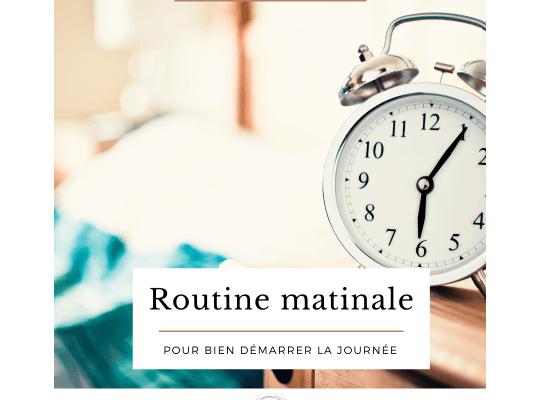 Se créer une bonne routine matinale permet de commencer la journée dans une bonne énergie et une bonne dynamique. Constituez votre routine matinale sur-mesure grâce à votre cadeau téléchargeable en fin d'article.
