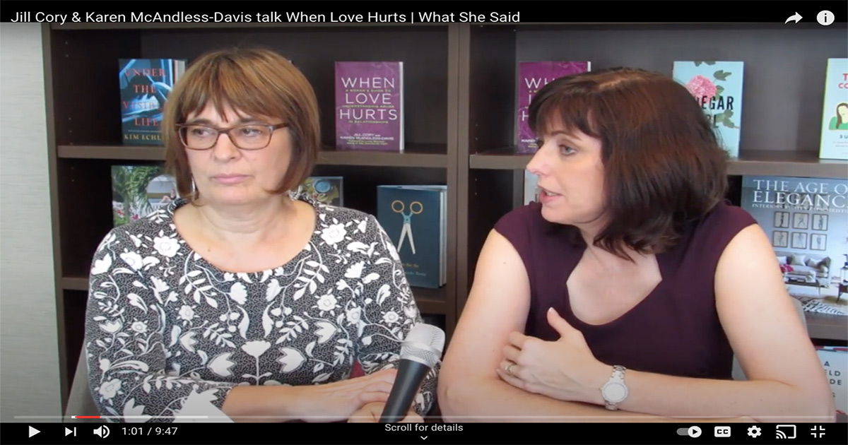 Karen McAndless-Davis and Jill Cory sit together and respond to questions about their book When Love Hurts