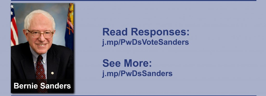 Click on the image to view all of Bernie Sanders' answers to the questionnaire.