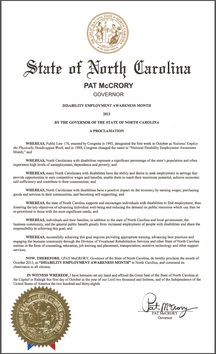 Official Proclamation
