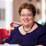 headshot of Celinda Lake in a blue blouse