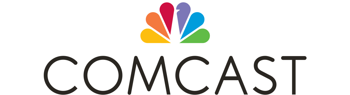 Comcast logo with NBC Universal peacock