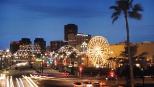 Long Beach skyline at night