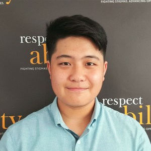 Headshot of Thomas Noh in front of the Respectability banner