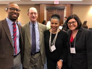 [L-R] Calvin Harris, Rep. Brad Sherman, Donna Walton and Lauren Appelbaum