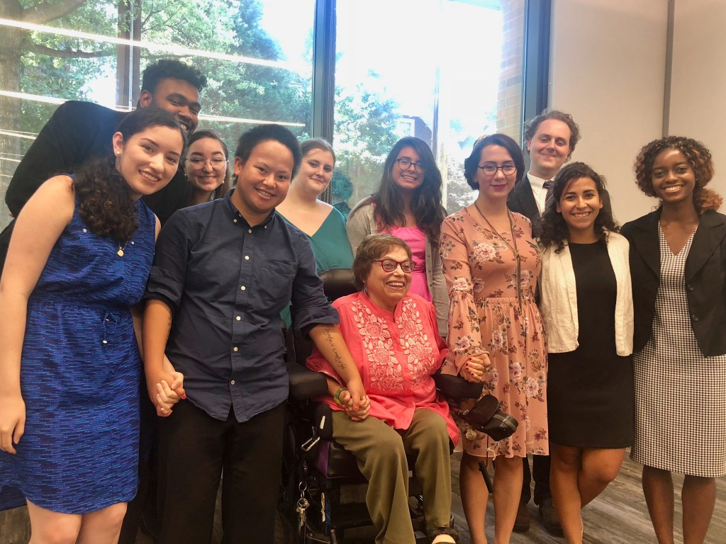 Judy Heumann with RespectAbility Fellows