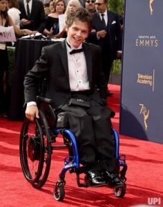 Micah Fowler on the Red Carpet at the Creative Arts Emmys