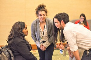 Hillel students meet with activist and community organizer Ola Ojewumi at the 2017 Ruderman Inclusion Summit