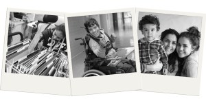 Three images of Latinx people with disabilities