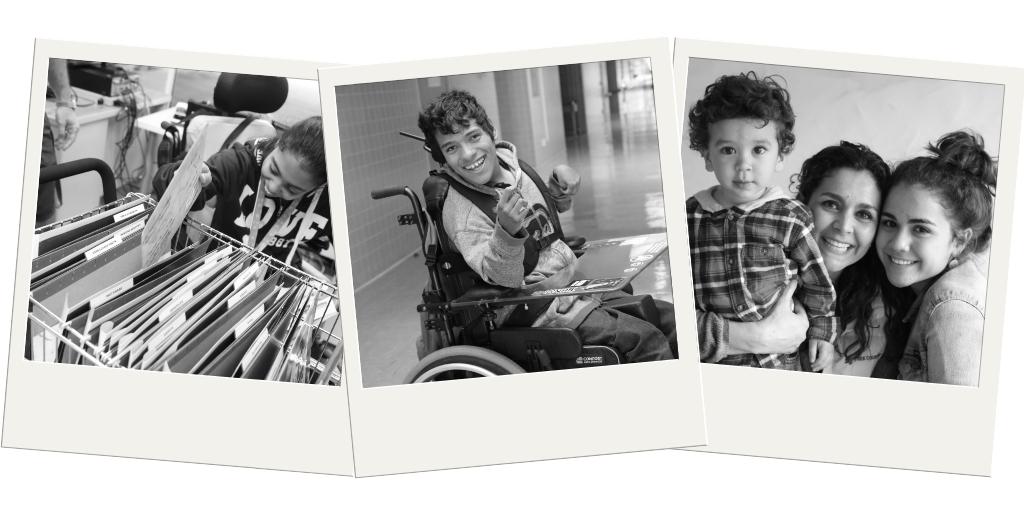 Tres imágenes de persones latinos/latinas