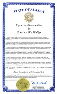 Image of Alaska's NDEAM proclamation